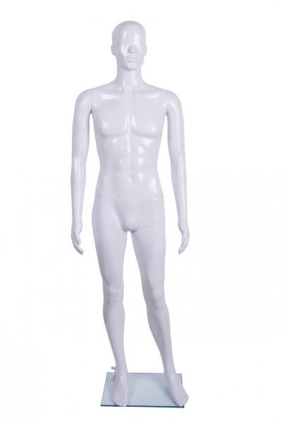Weiße Herrenschaufensterpuppe mit einer glänzenden Oberfläche 11734