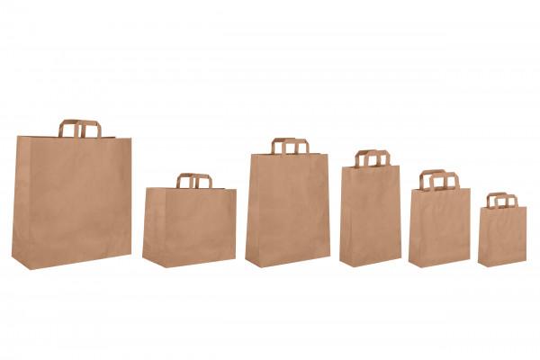 Hochwertige Papiertaschen Braun verschiedene Größen